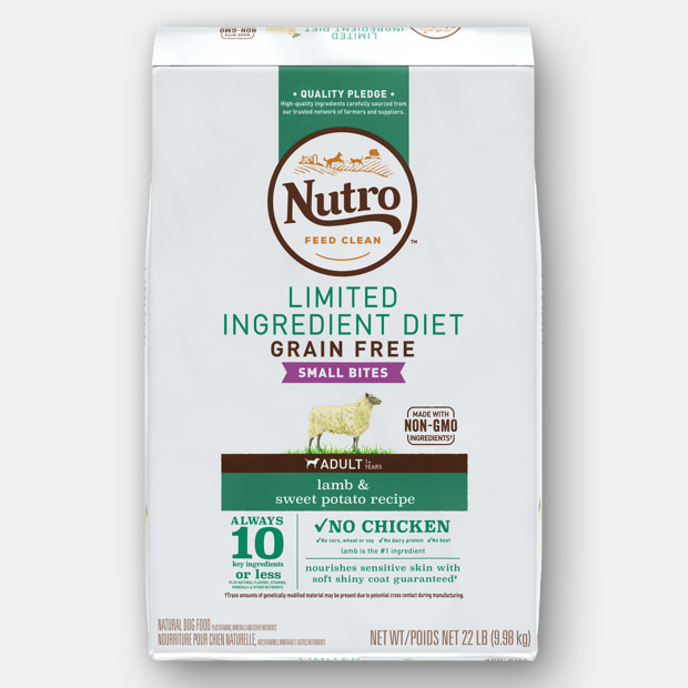 Limited Ingredient diet small bites lamb dog food