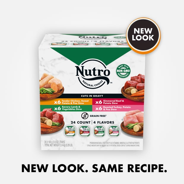 Nutro cuts in gravy variety pack beef lamb chicken and turkey