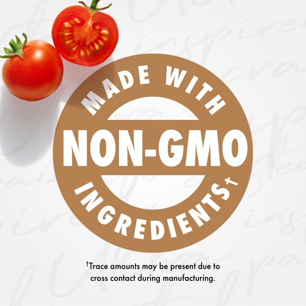 "nutro post that sais ""made with non-gmo ingredients"" fresh tomatoes"