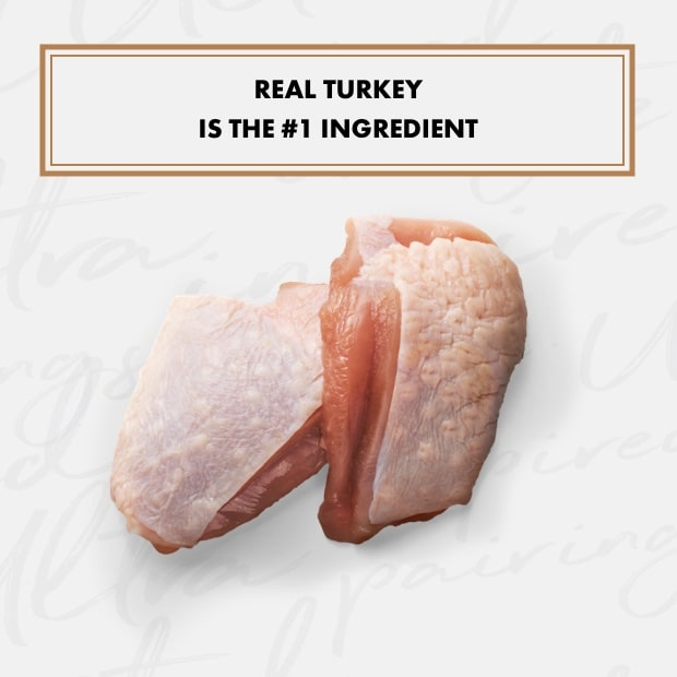 "two pieces of raw turkey with text that reads ""real turkey is the #1 ingredient"""